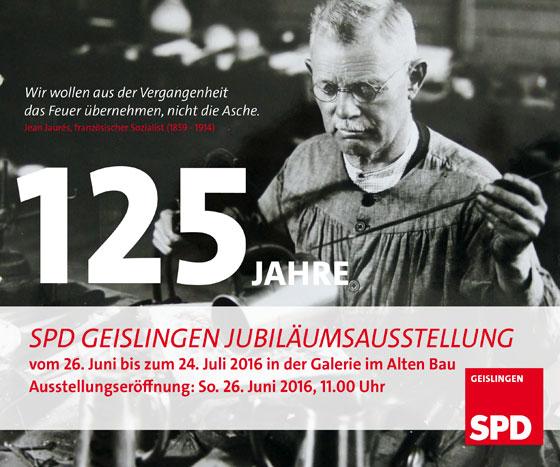 Galerie im Alten Bau Geislingen . Sonderausstellung . 125 Jahre SPD