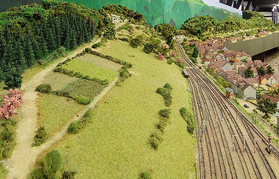 Museum im Alten Bau Geislingen . Modell Eisenbahnsteige